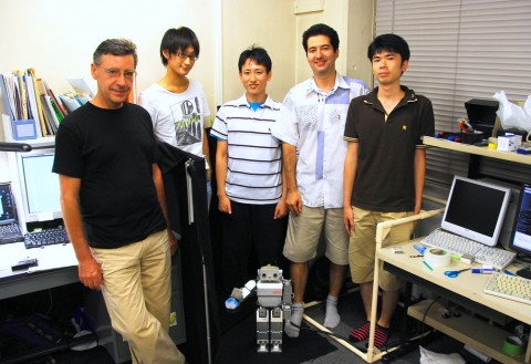 Group photo at Tokyo City University, in Prof. Nenchev's lab