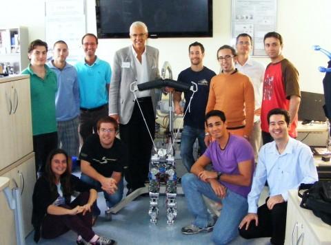 Group photo with Prof. Bruno Siciliano