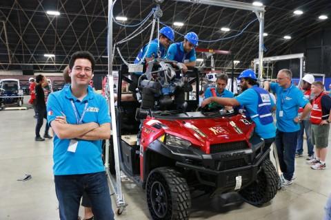 Petar with WALK-MAN team at DARPA Robotics Challenge, 2015