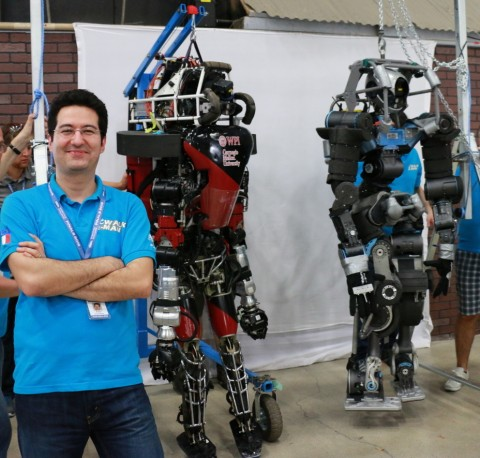 Petar with ATLAS and WALK-MAN robots in 2015