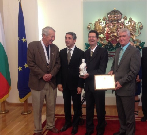 John Atanasoff's son, the President of Bulgaria, me, and my father